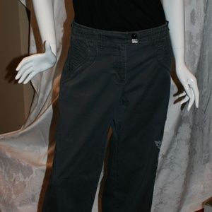 Cache Grey Bling Jeweled Pants /Capris Size 12